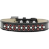 Mirage Pet Products Sprinkles Ice Cream Dog Collar Pearl and Red Crystals Size 18 Black