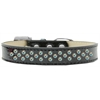 Mirage Pet Products Sprinkles Ice Cream Dog Collar AB Crystals Size 18 Black