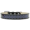 Mirage Pet Products Sprinkles Ice Cream Dog Collar Blue Crystals Size 18 Black