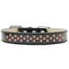 Mirage Pet Products Sprinkles Ice Cream Dog Collar Orange Crystals Size 20 Black