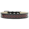 Mirage Pet Products Sprinkles Ice Cream Dog Collar Red Crystals Size 18 Black