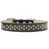 Mirage Pet Products Sprinkles Ice Cream Dog Collar Yellow Crystals Size 16 Black