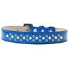 Mirage Pet Products Sprinkles Ice Cream Dog Collar Pearl and AB Crystals Size 16 Blue