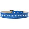 Mirage Pet Products Sprinkles Ice Cream Dog Collar Pearl and Blue Crystals Size 16 Blue