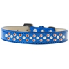 Mirage Pet Products Sprinkles Ice Cream Dog Collar Pearl and Orange Crystals Size 14 Blue