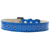 Mirage Pet Products Sprinkles Ice Cream Dog Collar Blue Crystals Size 18 Blue