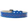Mirage Pet Products Sprinkles Ice Cream Dog Collar Red Crystals Size 14 Blue