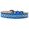 Mirage Pet Products Sprinkles Ice Cream Dog Collar Pearl and Yellow Crystals Size 14 Blue