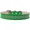 Mirage Pet Products Sprinkles Ice Cream Dog Collar Bright Pink Crystals Size 14 Emerald Green