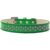 Mirage Pet Products Sprinkles Ice Cream Dog Collar Purple Crystals Size 14 Emerald Green