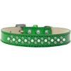 Mirage Pet Products Sprinkles Ice Cream Dog Collar Pearl and AB Crystals Size 14 Emerald Green