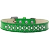 Mirage Pet Products Sprinkles Ice Cream Dog Collar Pearl and Clear Crystals Size 14 Emerald Green