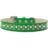 Mirage Pet Products Sprinkles Ice Cream Dog Collar Pearl and Orange Crystals Size 16 Emerald Green