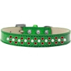 Mirage Pet Products Sprinkles Ice Cream Dog Collar Pearl and Red Crystals Size 14 Emerald Green