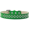 Mirage Pet Products Sprinkles Ice Cream Dog Collar AB Crystals Size 14 Emerald Green