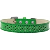 Mirage Pet Products Sprinkles Ice Cream Dog Collar Emerald Green Crystals Size 18 Emerald Green