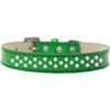 Mirage Pet Products Sprinkles Ice Cream Dog Collar Pearls Size 14 Emerald Green