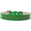 Mirage Pet Products Sprinkles Ice Cream Dog Collar Red Crystals Size 16 Emerald Green
