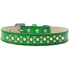Mirage Pet Products Sprinkles Ice Cream Dog Collar Pearl and Yellow Crystals Size 14 Emerald Green
