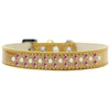 Mirage Pet Products Sprinkles Ice Cream Dog Collar Pearl and Bright Pink Crystals Size 18 Gold