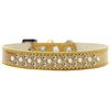 Mirage Pet Products Sprinkles Ice Cream Dog Collar Pearl and Clear Crystals Size 16 Gold
