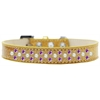 Mirage Pet Products Sprinkles Ice Cream Dog Collar Pearl and Purple Crystals Size 18 Gold