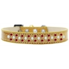 Mirage Pet Products Sprinkles Ice Cream Dog Collar Pearl and Red Crystals Size 20 Gold