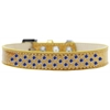 Mirage Pet Products Sprinkles Ice Cream Dog Collar Blue Crystals Size 18 Gold