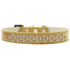 Mirage Pet Products Sprinkles Ice Cream Dog Collar Clear Crystals Size 14 Gold