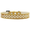 Mirage Pet Products Sprinkles Ice Cream Dog Collar Pearls Size 16 Gold