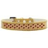 Mirage Pet Products Sprinkles Ice Cream Dog Collar Red Crystals Size 16 Gold