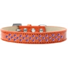 Mirage Pet Products Sprinkles Ice Cream Dog Collar Purple Crystals Size 14 Orange