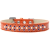 Mirage Pet Products Sprinkles Ice Cream Dog Collar Pearl and Blue Crystals Size 18 Orange