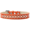 Mirage Pet Products Sprinkles Ice Cream Dog Collar Pearl and Clear Crystals Size 16 Orange