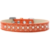 Mirage Pet Products Sprinkles Ice Cream Dog Collar Pearl and Orange Crystals Size 18 Orange