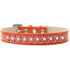 Mirage Pet Products Sprinkles Ice Cream Dog Collar Pearl and Purple Crystals Size 14 Orange