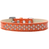 Mirage Pet Products Sprinkles Ice Cream Dog Collar Clear Crystals Size 14 Orange