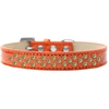 Mirage Pet Products Sprinkles Ice Cream Dog Collar Lime Green Crystals Size 14 Orange