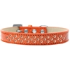 Mirage Pet Products Sprinkles Ice Cream Dog Collar Orange Crystals Size 18 Orange