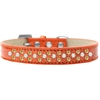 Mirage Pet Products Sprinkles Ice Cream Dog Collar Pearl and Yellow Crystals Size 16 Orange
