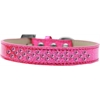 Mirage Pet Products Sprinkles Ice Cream Dog Collar Bright Pink Crystals Size 18 Pink