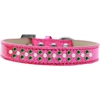 Mirage Pet Products Sprinkles Ice Cream Dog Collar Pearl and Emerald Green Crystals Size 12 Pink