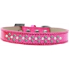 Mirage Pet Products Sprinkles Ice Cream Dog Collar Pearl and AB Crystals Size 18 Pink