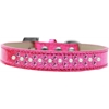Mirage Pet Products Sprinkles Ice Cream Dog Collar Pearl and Bright Pink Crystals Size 16 Pink
