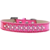 Mirage Pet Products Sprinkles Ice Cream Dog Collar Pearl and Clear Crystals Size 14 Pink