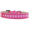 Mirage Pet Products Sprinkles Ice Cream Dog Collar Pearl and Purple Crystals Size 14 Pink