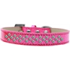 Mirage Pet Products Sprinkles Ice Cream Dog Collar AB Crystals Size 18 Pink