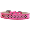 Mirage Pet Products Sprinkles Ice Cream Dog Collar Emerald Green Crystals Size 14 Pink