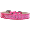 Mirage Pet Products Sprinkles Ice Cream Dog Collar Light Pink Crystals Size 14 Pink