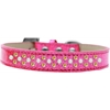 Mirage Pet Products Sprinkles Ice Cream Dog Collar Pearl and Yellow Crystals Size 14 Pink